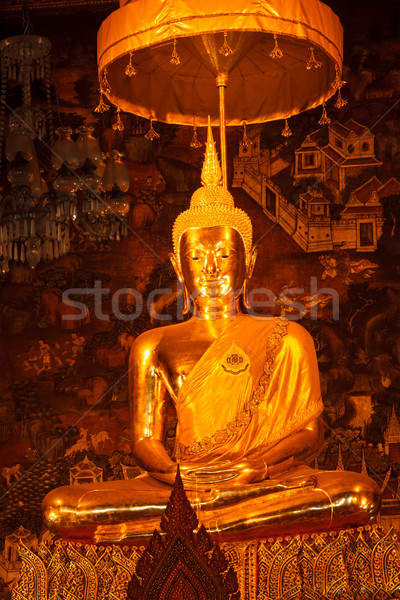 Sitting Buddha statue close up, Thailand Stock photo © dmitry_rukhlenko