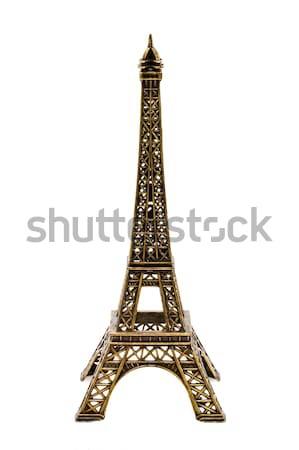 Klein bronzen beeldje toren kopiëren geïsoleerd Stockfoto © dmitry_rukhlenko