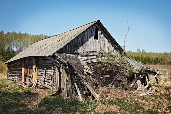 заброшенный дома старые домой сельский серый Сток-фото © dmitry_rukhlenko
