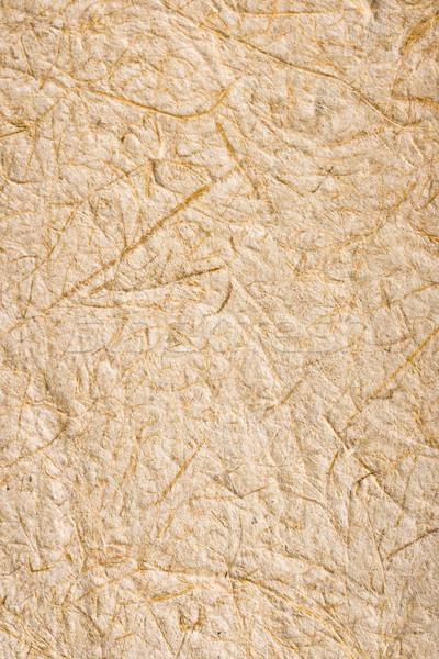 Feito à mão arroz textura do papel papel Tailândia textura Foto stock © dmitry_rukhlenko