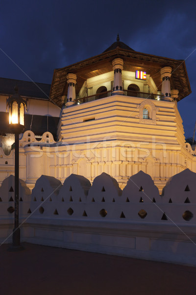 Temple of the Tooth. Evening. Sri Lanka Stock photo © dmitry_rukhlenko