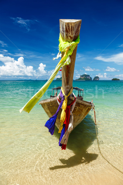 Long tail boat on beach, Thailand Stock photo © dmitry_rukhlenko