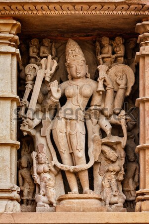 Erotic sculptures, Khajuraho, India Stock photo © dmitry_rukhlenko