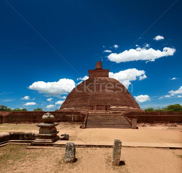 Sri Lanka steen aanbidden wolk baksteen godsdienst Stockfoto © dmitry_rukhlenko