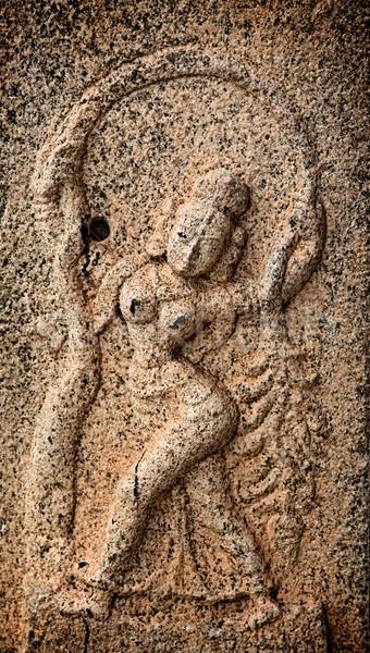 Bas reliefs in Hindue temple. Brihadishwarar Temple. Thanjavur,  Stock photo © dmitry_rukhlenko