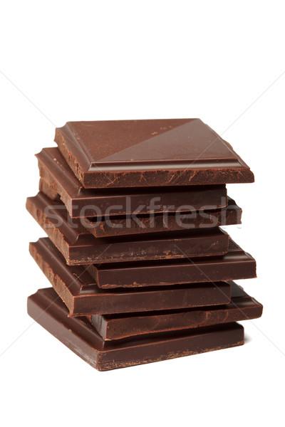 Chocolate escuro isolado branco doce escuro Foto stock © dmitry_rukhlenko