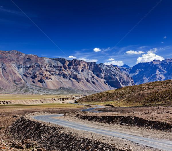 Weg indian himalayas hemel natuur Stockfoto © dmitry_rukhlenko