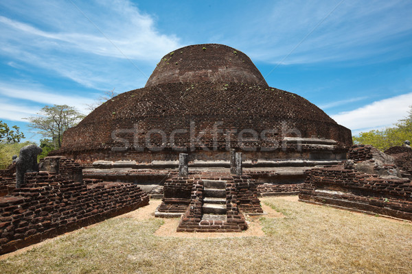 Ancient Buddhist dagoba (stupe) Pabula Vihara.  Sri Lanka Stock photo © dmitry_rukhlenko