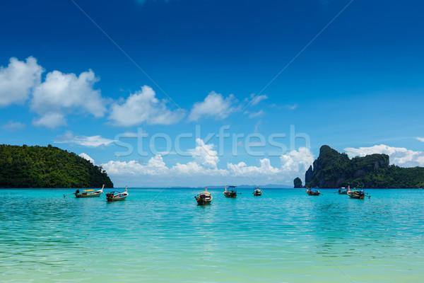 Długo ogon łodzi Tajlandia wyspa krabi Zdjęcia stock © dmitry_rukhlenko