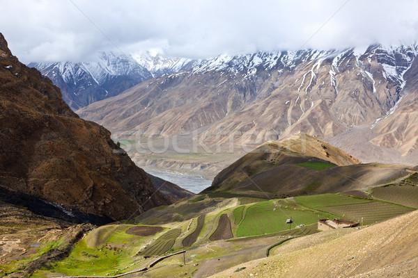 Stockfoto: Velden · vallei · himalayas · natuur · bergen · architectuur