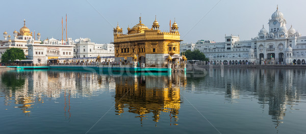 Photo stock: Or · temple · sikh · eau · piscine · architecture