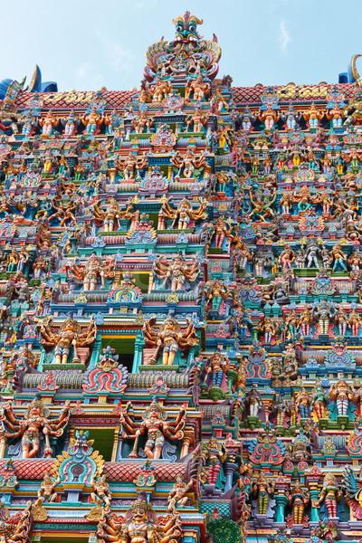 Hindu temple tower Stock photo © dmitry_rukhlenko