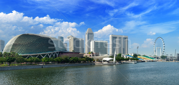Singapour Skyline panorama marina ciel eau Photo stock © dmitry_rukhlenko