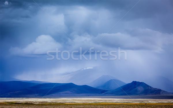 Gathering storm in Himalayas mountains Stock photo © dmitry_rukhlenko