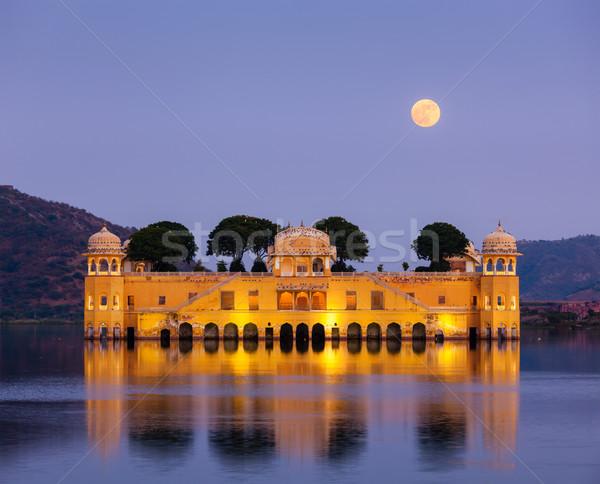 água palácio Índia ponto de referência homem lago Foto stock © dmitry_rukhlenko