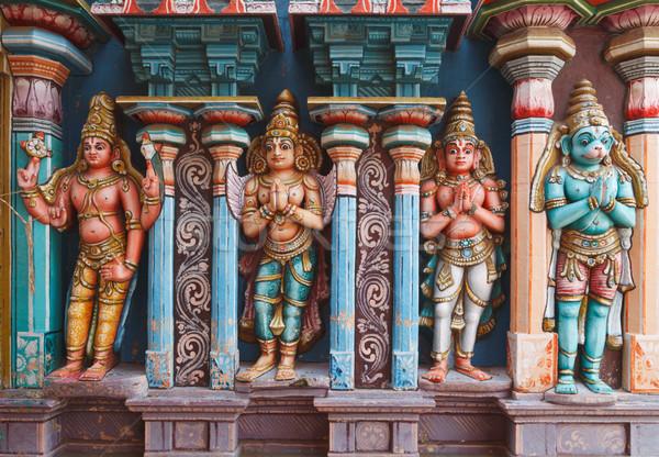 Hanuman statues in Hindu Temple. Sri Ranganathaswamy Temple. Tir Stock photo © dmitry_rukhlenko