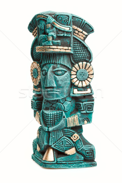 Mayan deity statue from Mexico isolated Stock photo © dmitry_rukhlenko