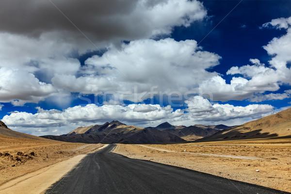 道路 平野 ヒマラヤ山脈 山 旅行 フォワード ストックフォト © dmitry_rukhlenko