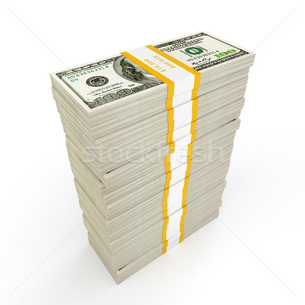 Para dolar beyaz başarı Stok fotoğraf © dmitry_rukhlenko