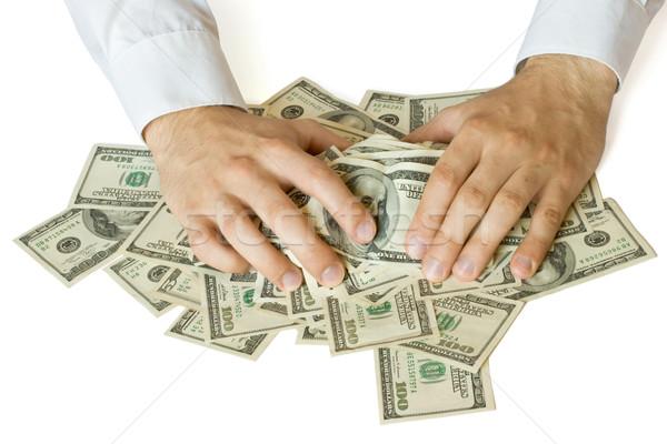 Ganancioso mãos dinheiro papel pessoa dedo Foto stock © dmitry_rukhlenko