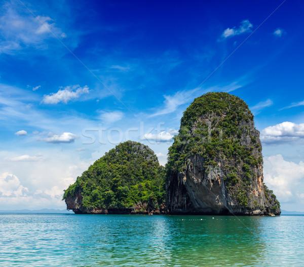 Kalksteen rock Thailand zee krabi golf Stockfoto © dmitry_rukhlenko