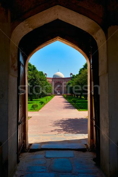 Túmulo Délhi Índia entrada ver edifício Foto stock © dmitry_rukhlenko