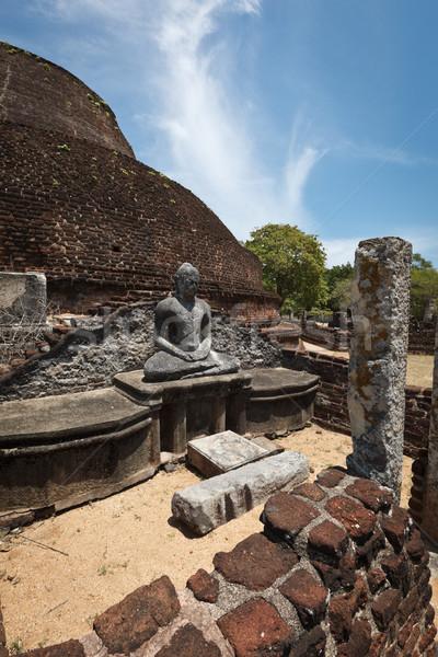 Ancient Buddhist dagoba (stupe) Pabula Vihara.  Sri Lanka Stock photo © dmitry_rukhlenko