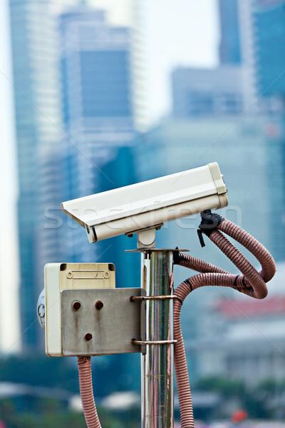 Cctv inwigilacja kamery Singapur miasta technologii Zdjęcia stock © dmitry_rukhlenko