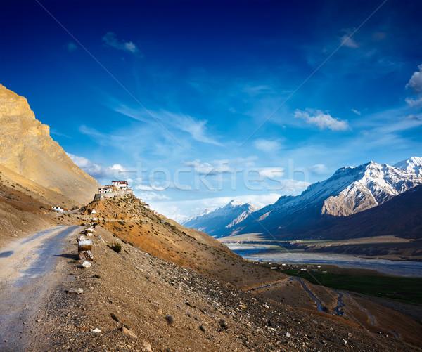 Estrada chave mosteiro vale natureza Foto stock © dmitry_rukhlenko
