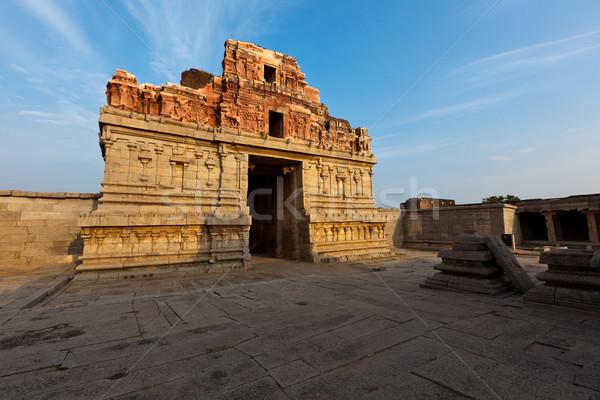 Krishna temple on sunset Stock photo © dmitry_rukhlenko