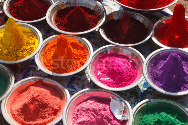 Por India színes színes indiai bazár Stock fotó © dmitry_rukhlenko