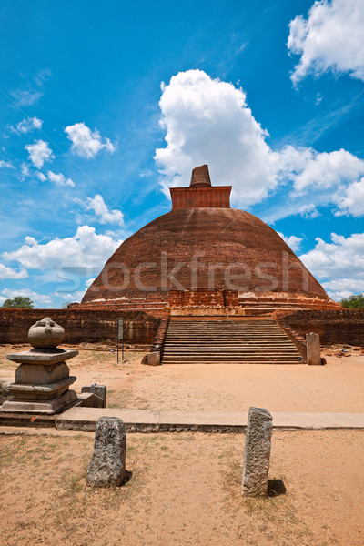 Sri Lanka buddha tempel niemand beroemd boeddhisme Stockfoto © dmitry_rukhlenko