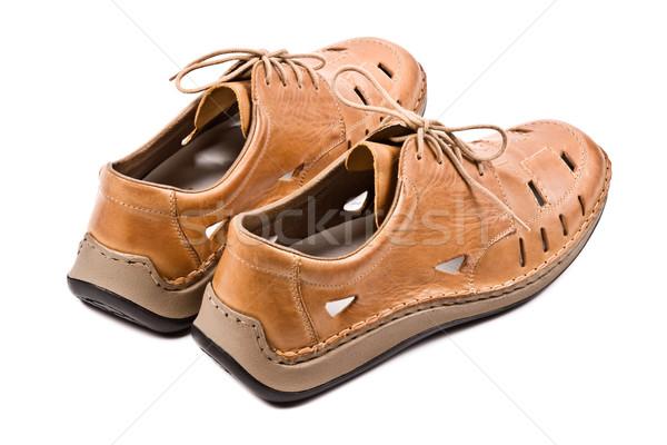 Two man's summer shoes isolated  Stock photo © dmitry_rukhlenko
