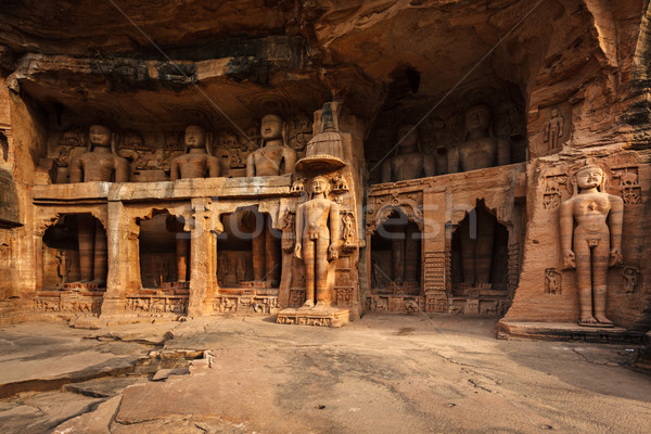 Statues of Jain thirthankaras Stock photo © dmitry_rukhlenko