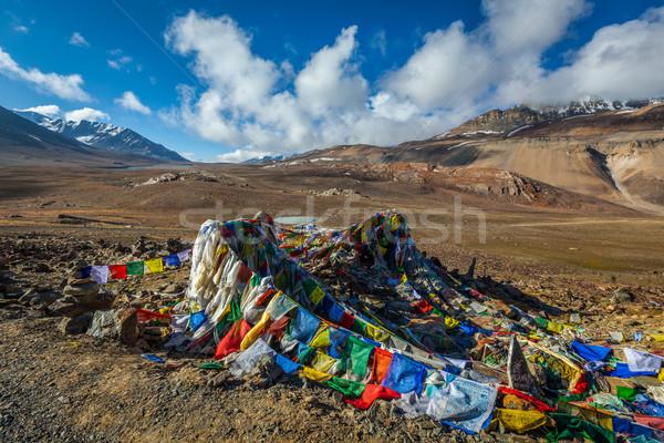 Gebed vlaggen la himalayas Stockfoto © dmitry_rukhlenko