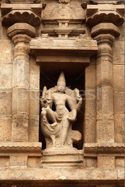 Bas reliefes in Hindu temple. Arulmigu Arunachaleswarar Temple.  Stock photo © dmitry_rukhlenko