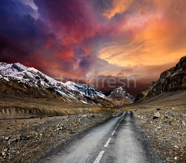 Road in mountains Stock photo © dmitry_rukhlenko