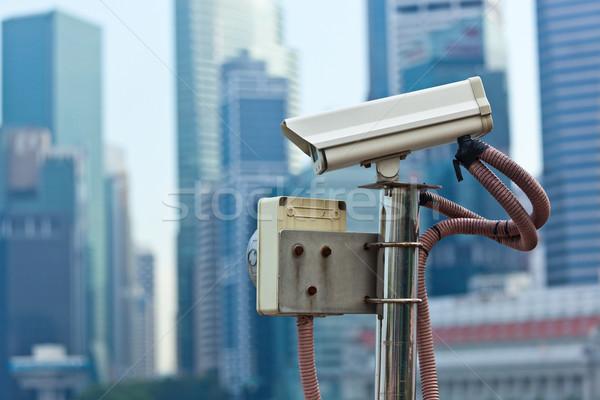 Cctv サーベイランス カメラ シンガポール 市 技術 ストックフォト © dmitry_rukhlenko
