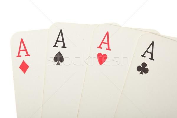 Quatre vieux cartes diamant Photo stock © dmitry_rukhlenko