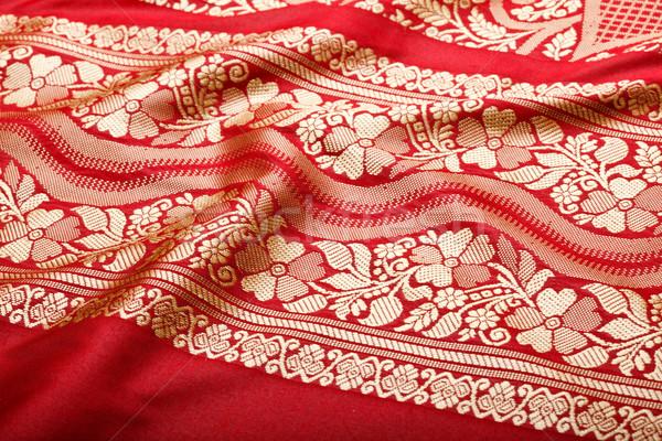 Indian sari with pleats clouse up  Stock photo © dmitry_rukhlenko