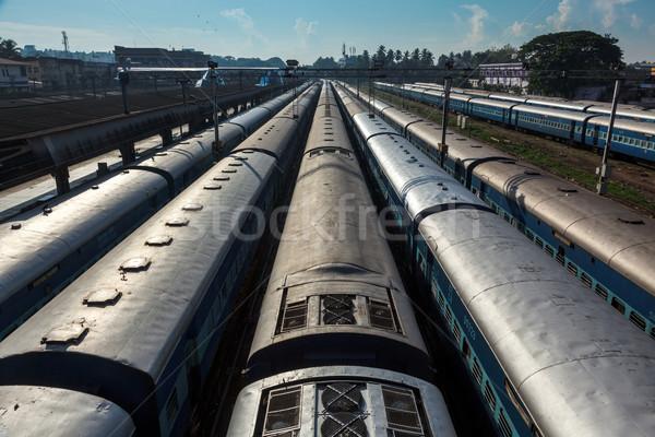 Trens estação de trem Índia treinador topo transporte Foto stock © dmitry_rukhlenko
