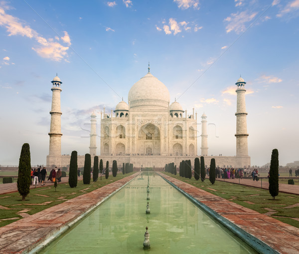 Photo stock: Taj · Mahal · sunrise · coucher · du · soleil · Inde · indian · symbole