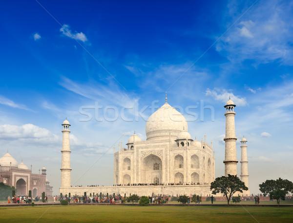 Taj Mahal India indiai szimbólum utazás kő Stock fotó © dmitry_rukhlenko