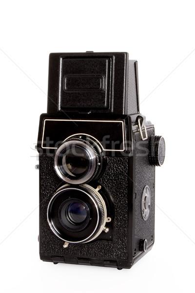 Oude reflex camera geld achtergrond metaal Stockfoto © dmitry_rukhlenko