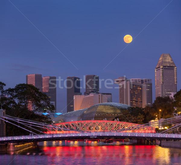 Singapur horizonte puente río agua Foto stock © dmitry_rukhlenko