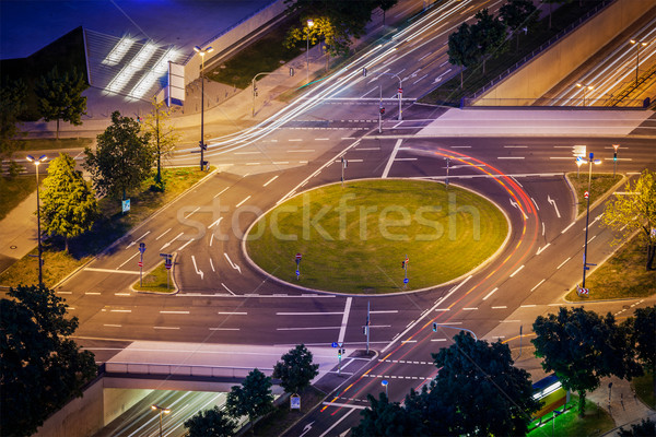 Elevated view of German road junction. Munich, Bavaria, Germany, Stock photo © dmitry_rukhlenko