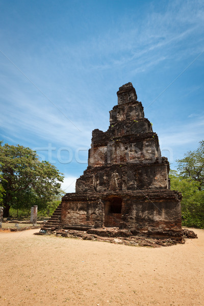 Satmahal Prasada. Quadrangle, Polonnaruwa, Sri Lanka Stock photo © dmitry_rukhlenko