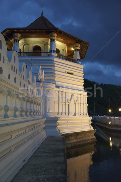 Temple of the Tooth. Evening. Sri Lanka Stock photo © dmitry_rukhlenko