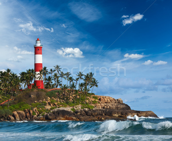 Kovalam (Vizhinjam) lighthouse. Kerala, India Stock photo © dmitry_rukhlenko