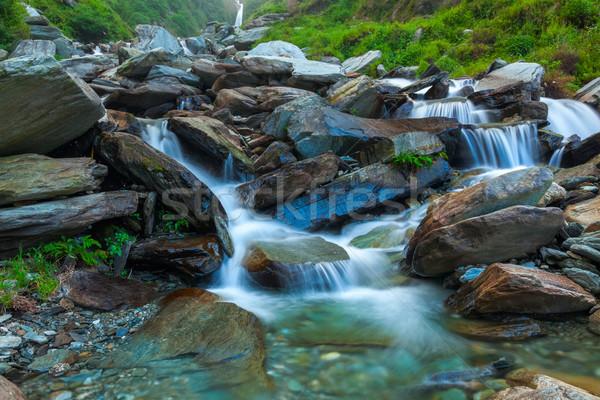 Bhagsu waterfall. Bhagsu, Himachal Pradesh, India Stock photo © dmitry_rukhlenko